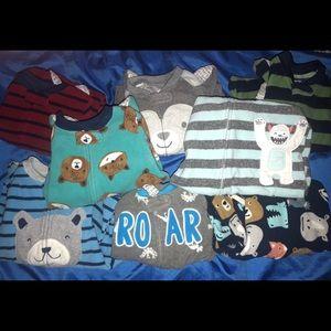 Carter's Fleece Footie Pajamas Set Baby Boy 12 mo